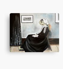 Whistler's Mother (as a fish) Canvas Print