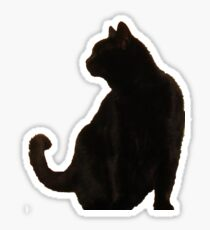 Halloween Black Cat Silhouette Sticker