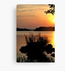 Inks Lake State Park Sunset Canvas Print