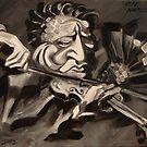 Jascha Heifetz (as a fish) by Ellen Marcus