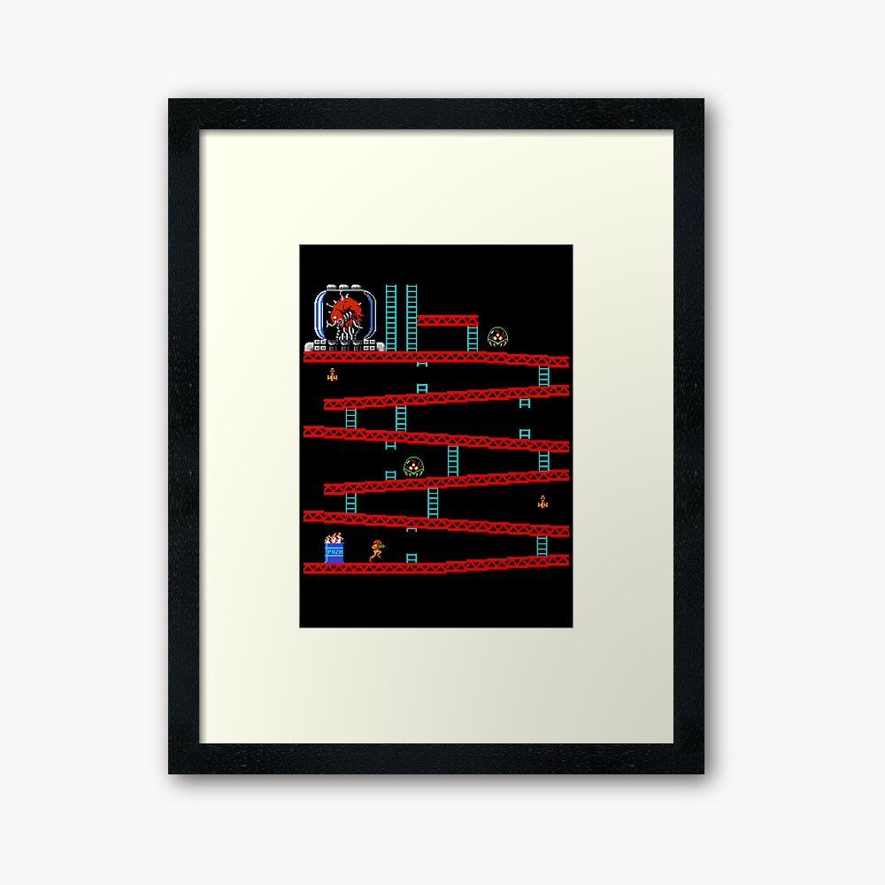 Metroid Kong Framed Art Print