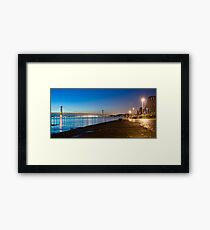Firth of Forth Bridges at night Framed Print