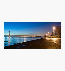 Firth of Forth Bridges at night Photographic Print