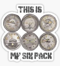 """This Is My Six Pack"" Sticker"