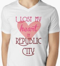 I Lost my heart in Republic City Mens V-Neck T-Shirt