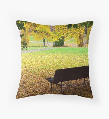 A Carpet of Fallen Leaves Throw Pillow