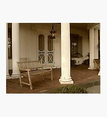 Bench By Front Door To Ringwood Manor  Photographic Print