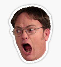 The Office - Dwight Screaming Sticker