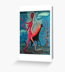 The Burning Giraffe Interpretation Greeting Card