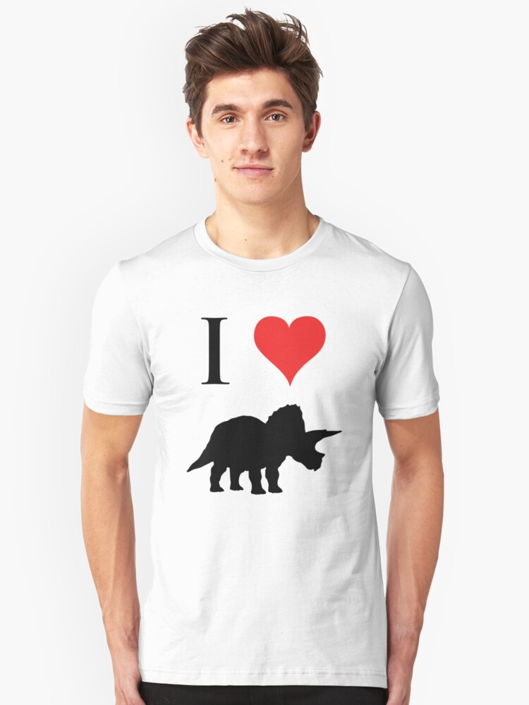 I Love Dinosaurs - Triceratops Unisex T-Shirt Front