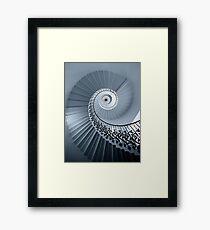 Tulip Staircase (Mono) Framed Print