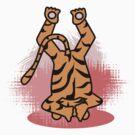 Yogic Tiger by Arvind  Rau