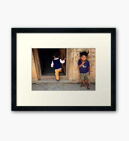 At School in the Mountains Framed Print