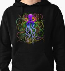 Octopus Psychedelic Luminescence Pullover Hoodie