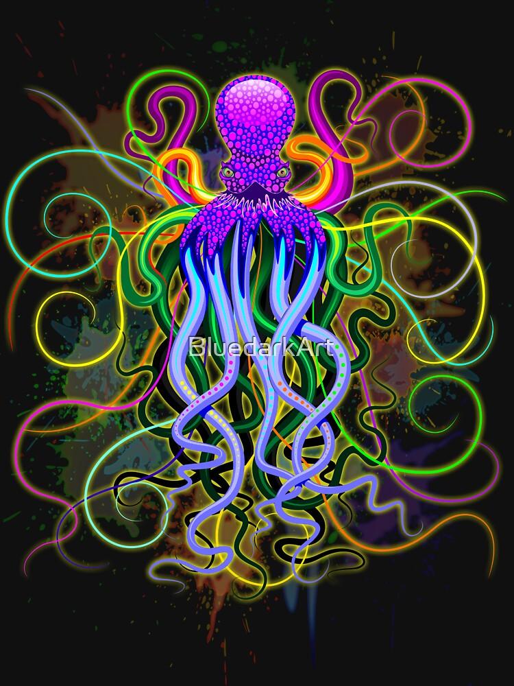 Pulpo de luminiscencia psicodélica de BluedarkArt
