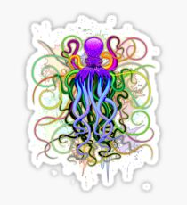 Octopus Psychedelic Luminescence Sticker