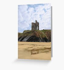old castle cliff ruin ballybunion Greeting Card