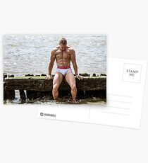 Physique on the Thames at Full Tide with Stephan Postcards