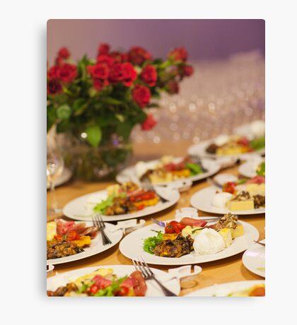 Event Food Shot Canvas Print