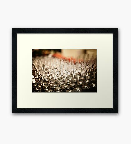 Champagne Glasses Framed Print