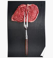 Rib eye steak Poster