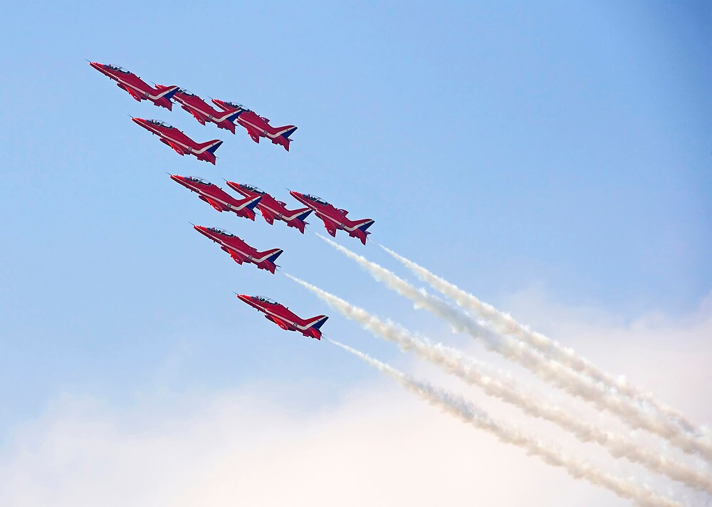 Red Arrows - Reach for the Sky by Pat Speirs