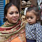Nepali mother and daughter, Kathmandu by John Spies
