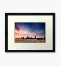 Cape Cod Blue and Gold Sunset Framed Print