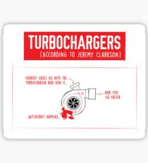 How Turbochargers work: by Jeremy Clarkson (red version) Sticker
