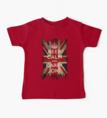 Vintage Keep Calm and Carry On and Union Jack Flag Kids Clothes