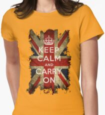 Vintage Keep Calm and Carry On and Union Jack Flag T-Shirt