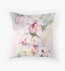 Pale Orchids Throw Pillow