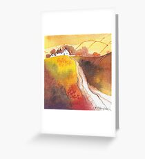 Golden Harvest mini landscape Greeting Card