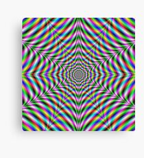 Twelve Pointed Psychedelic Web Canvas Print