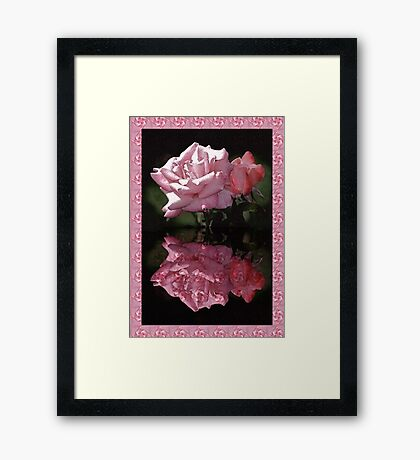 Passionately Pink Rose Duo Framed Print