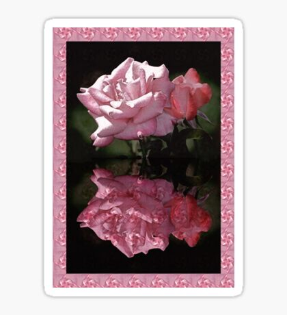 Passionately Pink Rose Duo Sticker