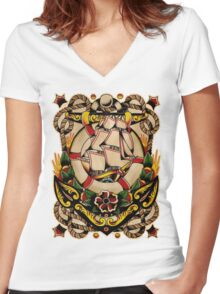 Spitshading 027 Women's Fitted V-Neck T-Shirt