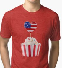 Independence day cupcakes Tri-blend T-Shirt