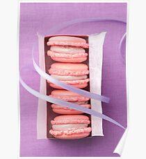 Pink macarons Poster