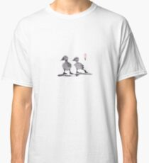 """print of original painting Japanese sumi-e """"Two duckling friends"""" Classic T-Shirt"""