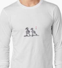 """print of original painting Japanese sumi-e """"Two duckling friends"""" T-Shirt"""