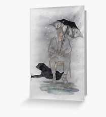 On a rainy day Greeting Card