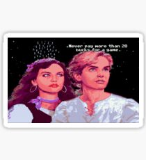 Guybrush and Elaine (final of Monkey Island 1) Sticker