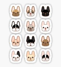 Frenchies Family  Sticker
