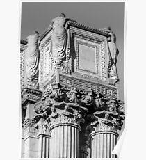 Roman Greco Pillar Poster