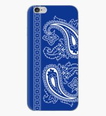 Blue and White Paisley Bandana  iPhone Case