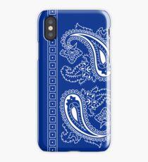Blue and White Paisley Bandana  iPhone Case