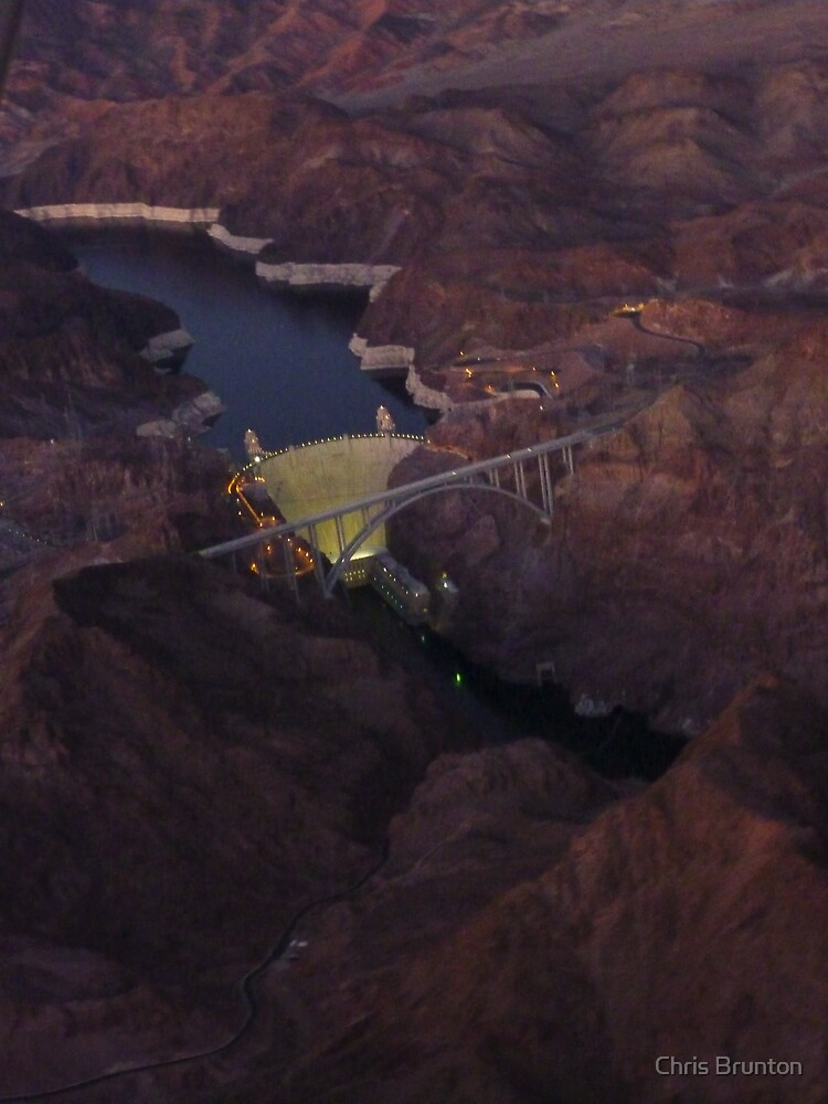 Hover Dam at night by Chris Brunton