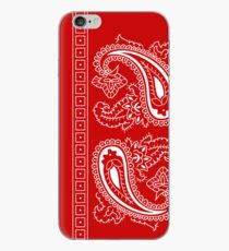 Red and White Paisley Bandana   iPhone Case