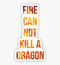 Fire cannot kill a dragon Sticker